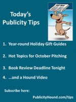 Publicity Tips–Year-round Holiday Gift Guides
