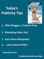Publicity Tips–Offer Bloggers a Contest Prize