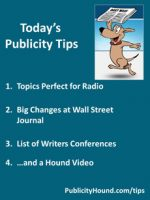 Publicity Tips–Topics Perfect for Radio