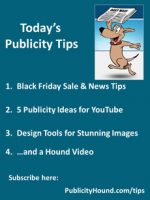 Publicity Tips–Black Friday Sale & News Tips