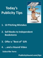 Publicity Tips–10 Pitching Mistakes
