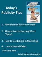 Publicity Tips–Post-Election Sources Wanted
