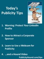 Publicity Tips–Warning: Protect Your LinkedIn Profile