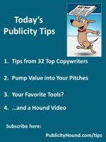 Publicity Tips–Tips from 32 Top Copywriters