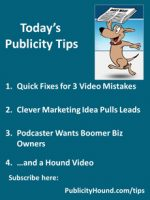 Publicity Tips–Quick Fixes for 3 Video Mistakes