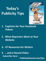 Publicity Tips–Captions for Your Facebook Videos