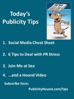 Publicity Tips–Social Media Cheat Sheet