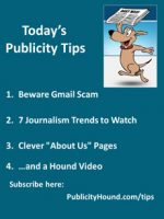 Publicity Tips–Beware Gmail Scam
