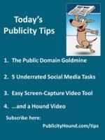 Publicity Tips–The Public Domain Goldmine