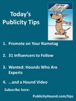Publicity Tips–Promote on Your Nametag