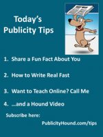 Publicity Tips–Share a Fun Fact About You