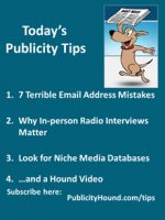 Publicity Tips–7 Terrible Email Address Mistakes