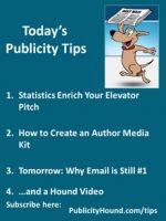 Publicity Tips–Statistics Enrich Your Elevator Pitch