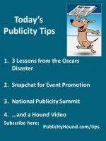 Publicity Tips–3 Lessons from the Oscars Disaster