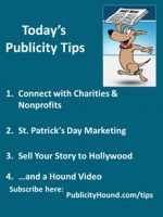 Publicity Tips–Connect with Charities & Nonprofits