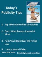 Publicity Tips–Top 100 Local Online Directories