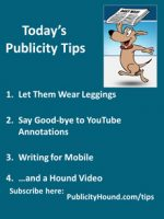 Publicity Tips–Let Them Wear Leggings