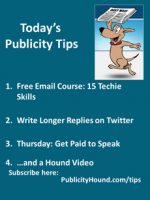 Publicity Tips–Free Email Course: 15 Techie Skills