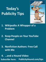 Publicity Tips–Wikipedia: A Whopper of a Problem