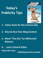 Publicity Tips–Video Tools for the Camera-Shy