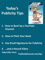 Publicity Tips–How to Beef Up a YouTube Channel