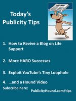 Publicity Tips–How to Revive a Blog on Life Support