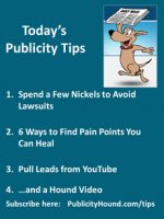Publicity Tips–Spend a Few Nickels to Avoid Lawsuits