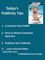Publicity Tips–A Surprise from HARO
