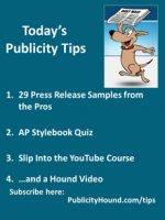 Publicity Tips–29 Press Release Samples from the Pros