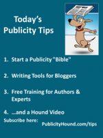 "Publicity Tips–Start a Publicity ""Bible"""