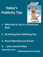 Publicity Tips–What Not to Say in a Thank-you Note