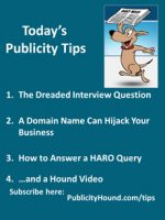 Publicity Tips–The Dreaded Interview Question