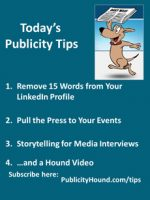 Publicity Tips–Remove 15 Words from Your LinkedIn Profile