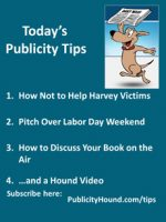 Publicity Tips–How Not to Help Harvey Victims
