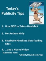 Publicity Tips–How NOT to Take a Headshot