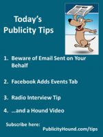 Publicity Tips–Beware of Email Sent on Your Behalf
