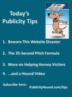 Publicity Tips–Beware This Website Disaster