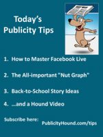 Publicity Tips–How to Master Facebook Live