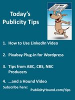 Publicity Tips–How to Use LinkedIn Video
