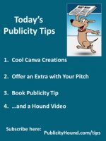 Publicity Tips–Cool Canva Creations