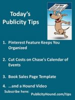 Publicity Tips–Pinterest Feature Keeps You Organized