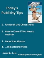 Publicity Tips–Facebook Live Cheat Sheet