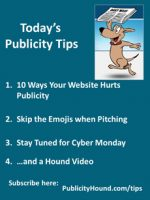 Publicity Tips–10 Ways Your Website Hurts Publicity