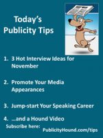 Publicity Tips–3 Hot Interview Ideas for November