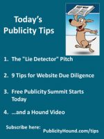 "Publicity Tips–The ""Lie Detector"" Pitch"