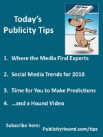 Publicity Tips–Where the Media Find Experts