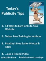 Publicity Tips–14 Ways to Earn Links to Your Website