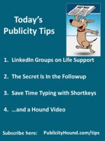 Publicity Tips–LinkedIn Groups on Life Support