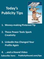 Publicity Tips–Money-making Pinterest Tip