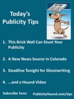 Publicity Tips–This Brick Wall Can Stunt Your Publicity